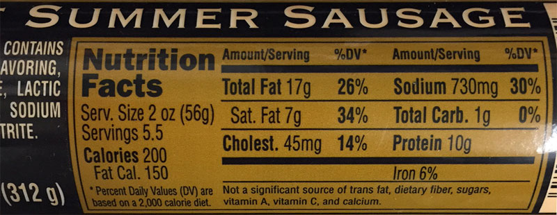 Nutritional Information The Goodies Factory The
