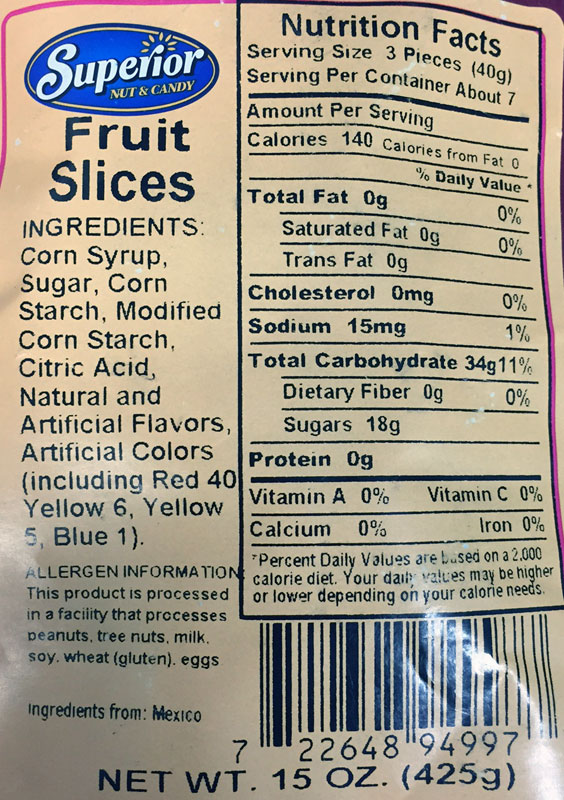 Nutritional Information | The Goodies Factory | The Goodies