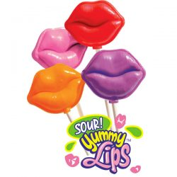 Yummy Sour Lips Lollipops